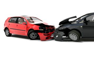 photo of 2 cars collided in a car crash