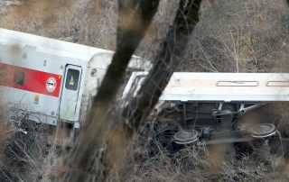 photo of Metro North Train Derailment