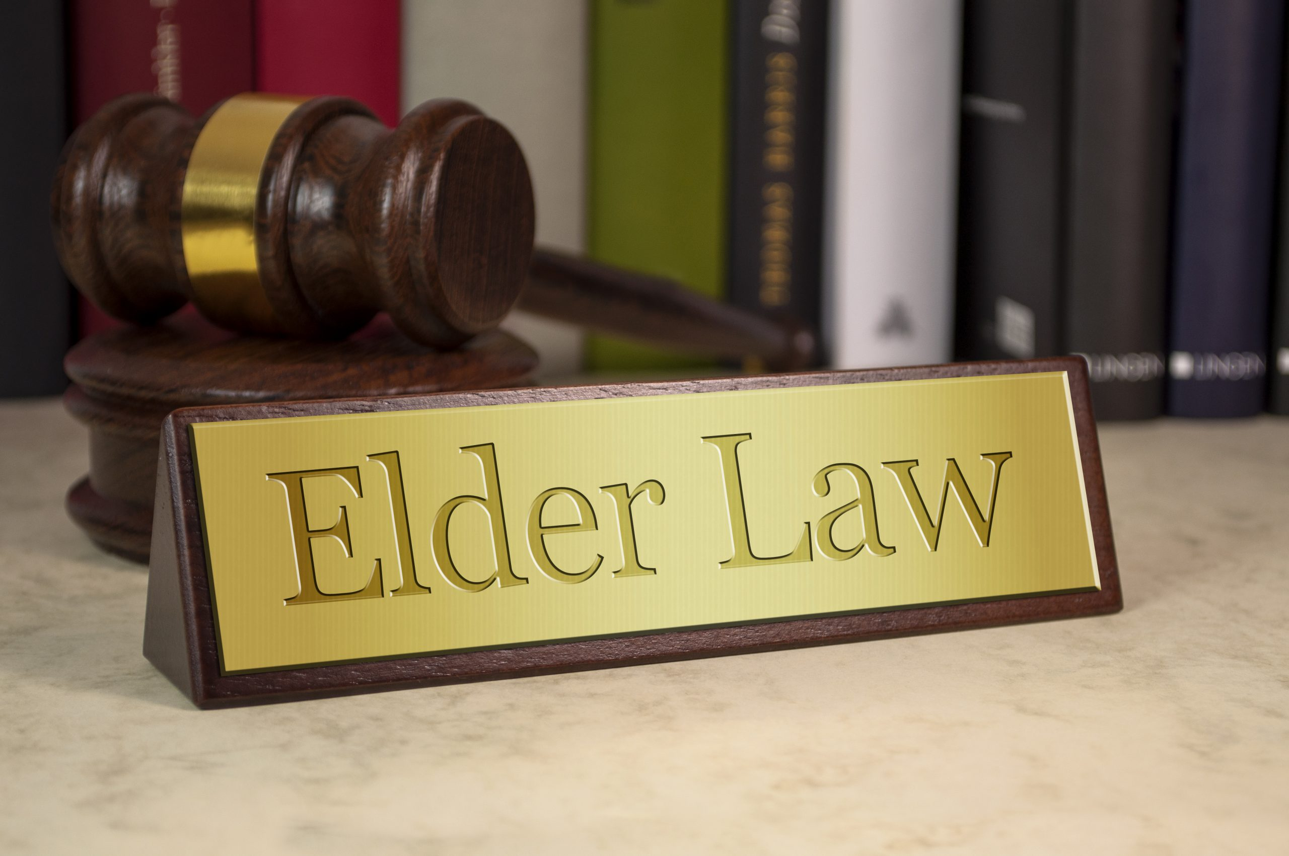 photo of Elder Law Sign With Gavel