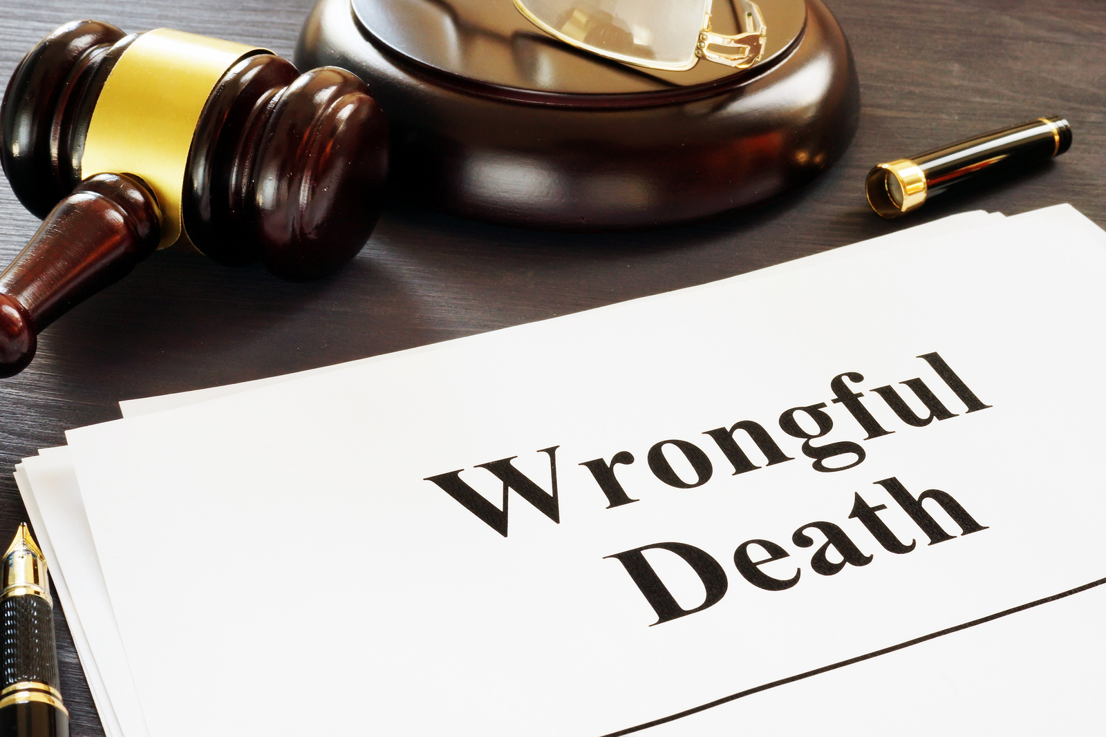 picture of Wrongful Death Report And Gavel In A Court