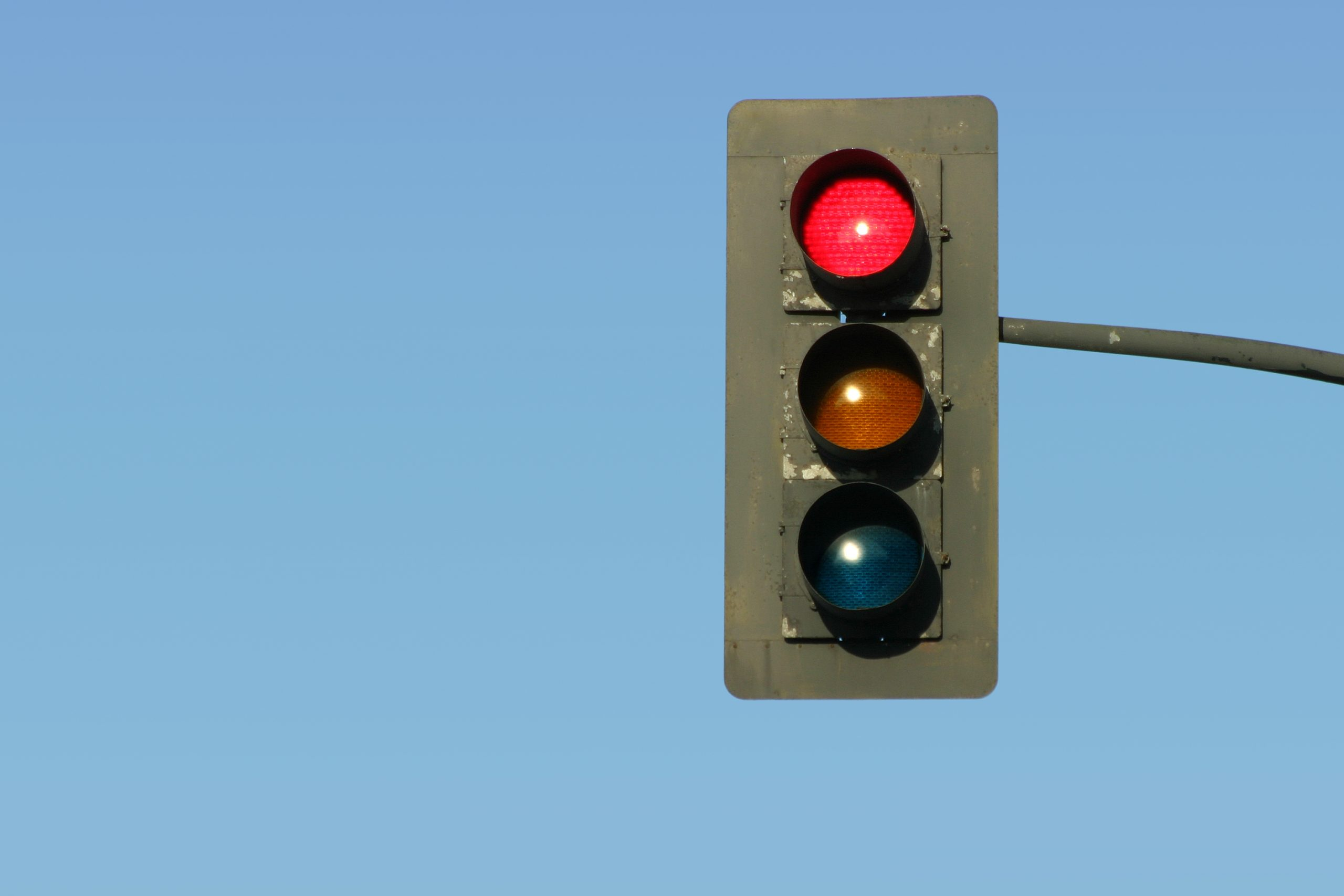 Picture of a red light